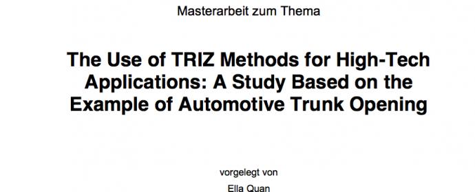 TRIZ als Werkzeug für Vertriebsmitarbeiter zur Ideengenerierung