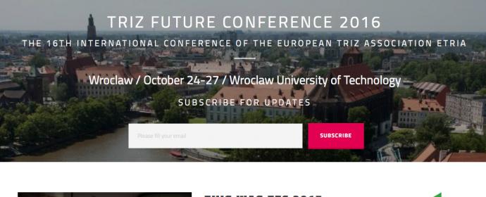TRIZ Future Conference (ETRIA) 2016