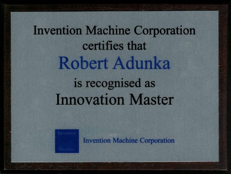 Innovation Master Schild