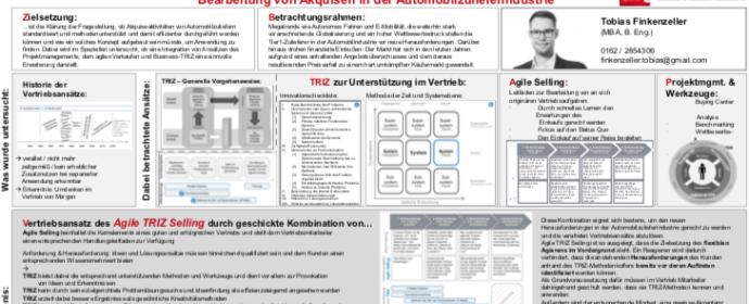 Agile Selling + TRIZ: Masterarbeit von Tobias Finkenzeller als Download